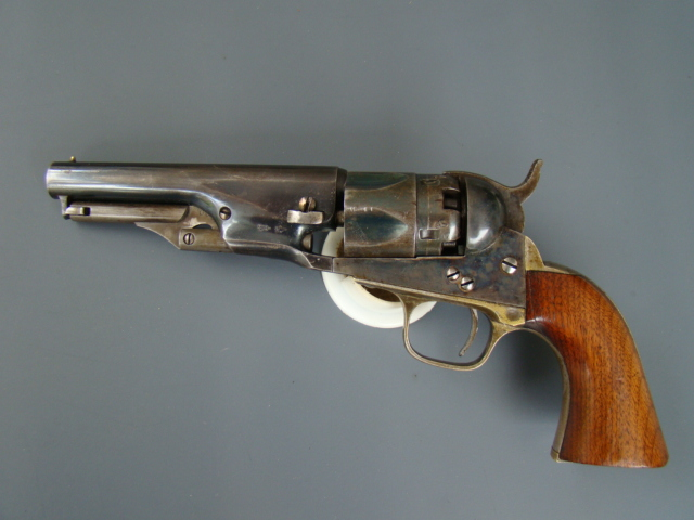 3022P Metropolitan 1862 Police Model, 36 cal., 4 ½, 1864, Excellent, Appears Unfired, Rare.