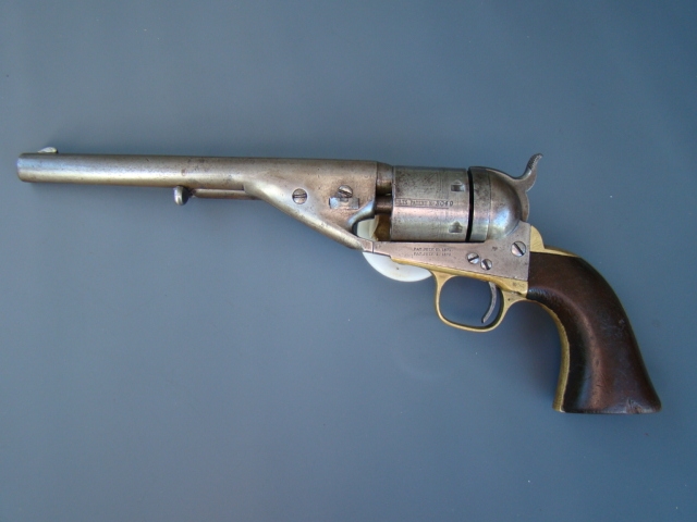 3042P Colt 1861 Navy Richards Mason Conversion, 38cf, 7 ½, Fine
