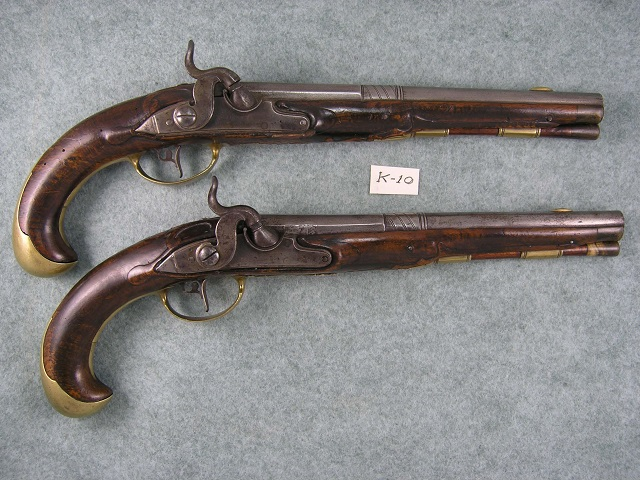 K-10 A Pair of European Percussion Pistols (Conversions)