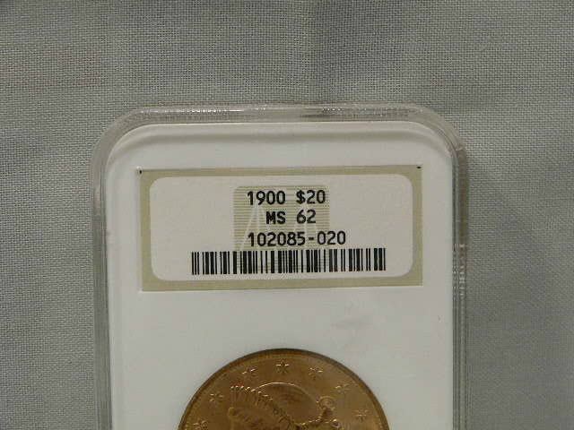 #C312 Gold 1900 Liberty Double Eagle $20 Dollar NGC MS62 Gold