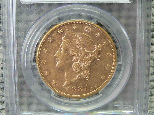#C342 Liberty 1882-S Double Eagle $20 Dollar PCGS AU53 Gold
