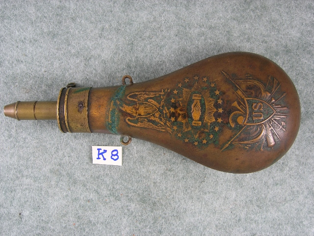 U.S. Piece Flask. Marked BATTY