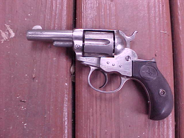 "Excellent Colt Lightning Storekeepers Model, 3""x.38 Cal., Nickeled, Great Bore"