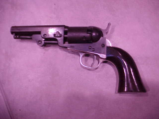 "Very Good Colt 1849 Pocket model, .31x 4"", Blue, Scene, Varnish"