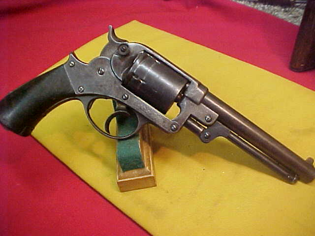 #3859 Starr 1858 D/A Army 44percussion-to-cartridge revolver, early 1870s after-market conversion to 45COLT