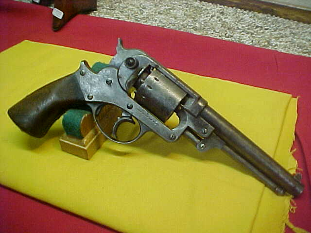 #3863 Starr Arms Model 1858 Army D/A revolver, 44caliber percussion with VG+ bore (7-8)