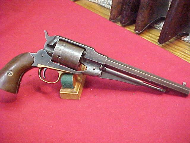 #4243  Remington Model 1858 Army, 44-percussion revolver, period after-market converted to 44 CF