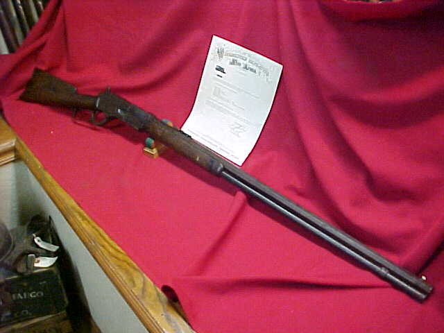 "#4268 Winchester 1876 ""Open-Top"" OBFMCB w/VERY rare 32"" overlength barrel"