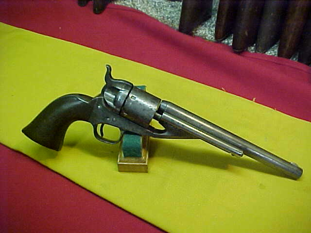 #4846 Colt 1861 New Model Navy revolver, converted to 38RF, G-VG bore (6+), VG action.