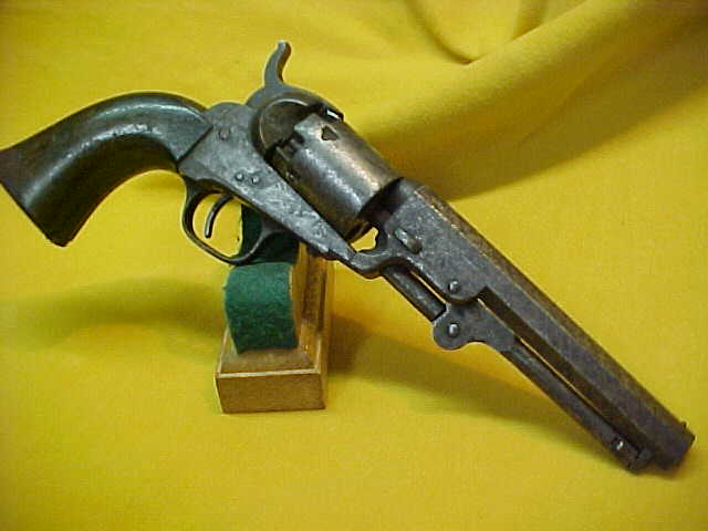 "#4912 Colt 1849 Pocket Model, 5""x31cal, 151XXX and having the rare ""iron trigger guard and back strap"""